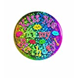 Kiss Me It's My Birthday Button Party Accessory (1 count) (1/Pkg)