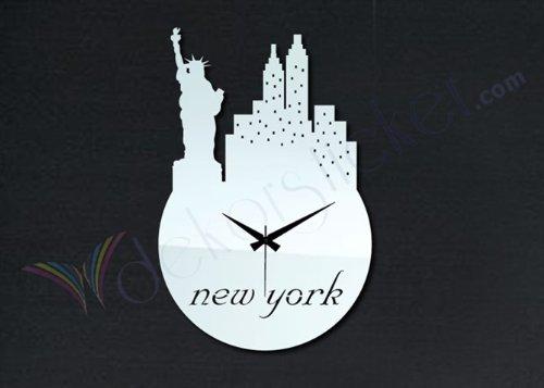 CinCin Personalità della moda moda orologio da parete decorativo orologi specchio creativo soggiorno in camera matrimoniale muto orologio europeo , silver