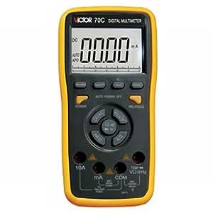 VICTOR 70C 3 5/6 Multimètre numérique Auto-Gamme Testeur Mesureur LCD écran Maintien des données Déclenchement clé voltmètre ampèremètre ohmmètre