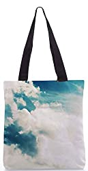 Snoogg Sunshine Clouds Poly Canvas Tote Bag