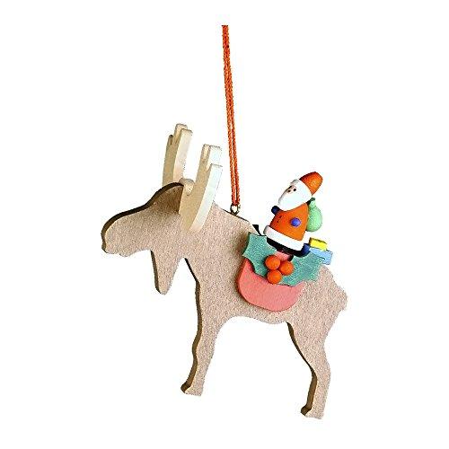Alexander Taron Home Decoration Christian Ulbricht Ornament – Santa on Elk – 3H x 3W x 3D
