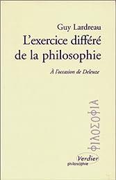 L' exercice différé de la philosophie