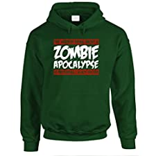 THE GOOZLER – ZOMBIE APOCALYPSE EXCITED – Mens Pullover Hoodie, 3XL, Forest