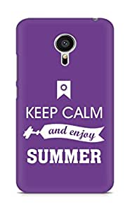 Amez Keey Calm and Enjoy Summer Back Cover For Meizu MX5