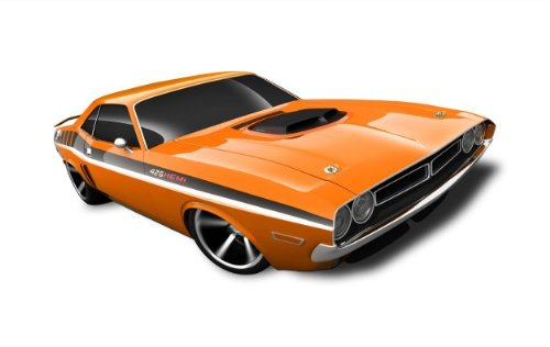 Hot Wheels - '71 Dodge Challenger (Orange) - Muscle Mania, Mopar 12 - 2/10 ~82/247 [Scale 1:64]