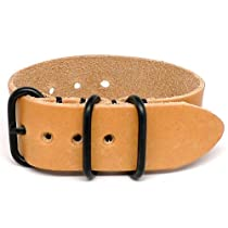 DaLuca 1 Piece NATO Watch Strap - Natural Essex (PVD Buckle) : 26mm