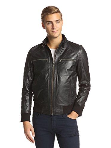 Emanuel By Emanuel Ungaro Men's Leather Bomber Jacket