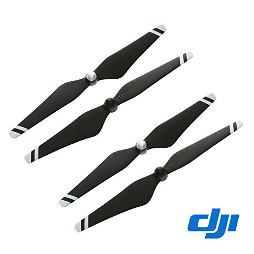 2 Pairs Genuine DJI Phantom 3 E305 9450 Props Carbon Fiber Reinforced Self-tightening Propellers (Composite Hub, Black with White Stripes) For Phantom 3 Professional, Advanced, Phantom 2 series, Flame Wheel series platforms and the E310/E305/E300 tuned propulsion systems Black W/ white Stripes