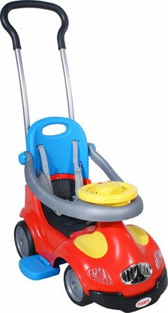 Spingere - Giocattolo da tirare - Baby car - Auto per bambini 18-2 Easy Red poignée amovible pour les parents, Ride-On Attivit? giocattolo