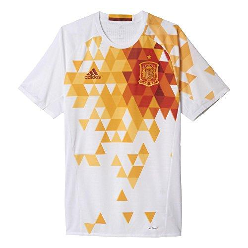 2ª Equipación Federación Española de Fútbol Euro 2016 - Camiseta oficial adidas, talla S Authentic
