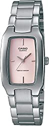 Casio Enticer Analog Pink Dial Womens Watch - LTP-1165A-4CDF (SH20)