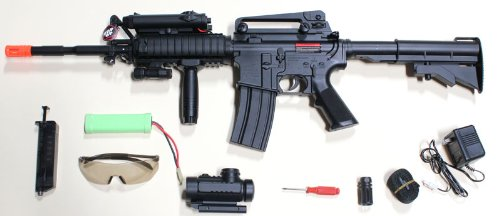 1:1 Scale RED DOT VERSION, Laser included M16 