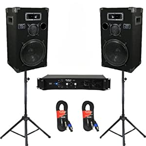 podium pro studio speakers 12 three way pro audio monitor pair stands amp and. Black Bedroom Furniture Sets. Home Design Ideas