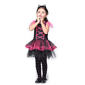 B-JOY Miss Kitty Girls' Cat Costume Kids Perfect Ballerina Tutu Dress