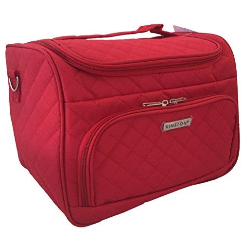 Vanity de voyage rouge Textile - Modèle 28 cm