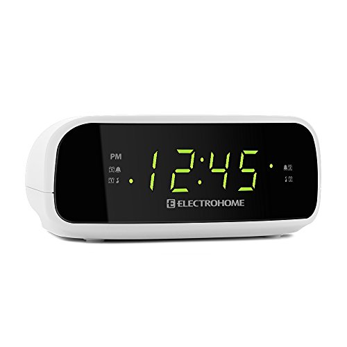 electrohome digital am fm clock radio with battery backup dual alarm sleep. Black Bedroom Furniture Sets. Home Design Ideas