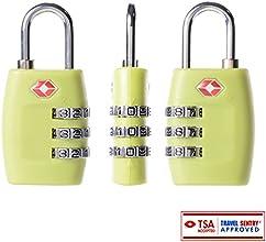 XCSOURCE® TSA Luggage Suitcase Travel Cable Code Lock Padlock 3 Digit Combination Locks HS202