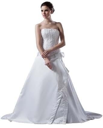 Herafa Wedding Dress Elegant NOw35934 At Amazon Womens Clothing Store