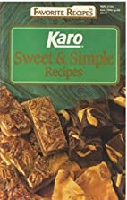 Karo Sweet & Simple Recipes by Best Foods