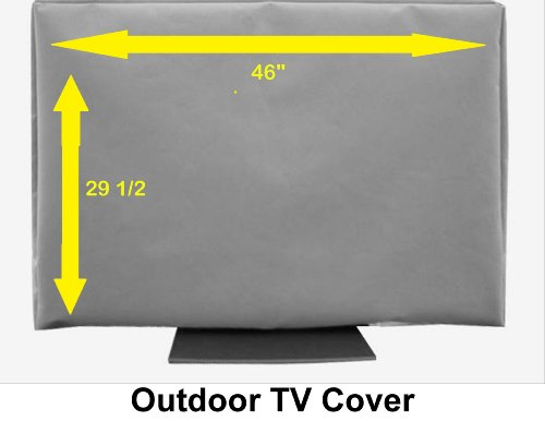 "Great Features Of 46"" Outdoor TV Cover (Soft Non Scratch Interior fits 46""-some 50"""