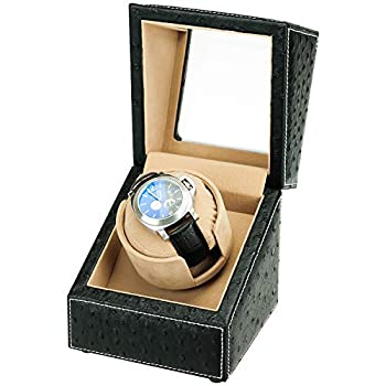 Driklux Automatic Single Watch Winder for Rolex with Quiet Motor,Premium Solid Wood Exterior and Soft Flexible Watch Pillows