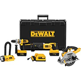 DEWALT DCX6401 36-Volt Lithium-Ion Cordless Hammerdrill/Circ/Recip/Floodlight Combo Kit with NANO Technology