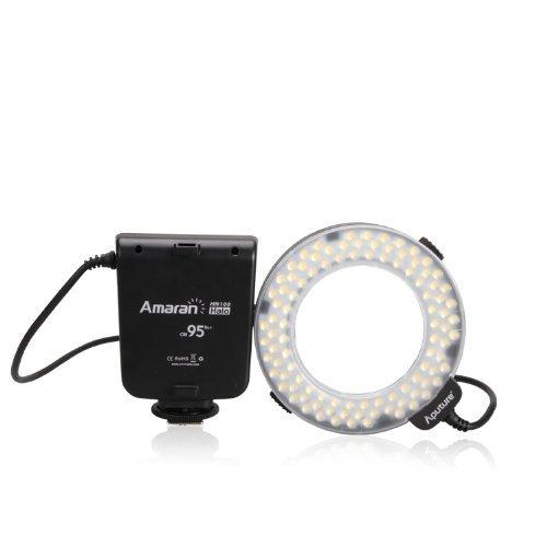 Aputure-Amaran-Halo-AHL-HN100-LED-Ring-Flash-Light-for-Nikon-and-Canon-Cameras