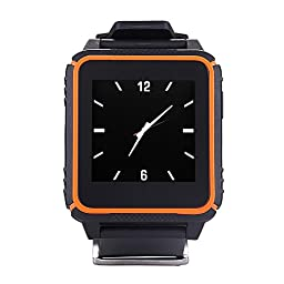 Soyan® Latest Version Waterproof Shockproof Dustproof Bluetooth 4.0 Smart Watch Touch Screen Wirstwatch Compatible With For Android and iPhone Smartwatch (Orange)