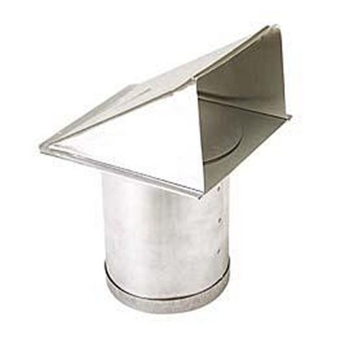"""Broan 642 4"""" Round Duct Aluminum Wall Cap With Damper (Package Of 4), Aluminum front-456207"""