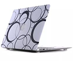 eShop24x7 CIRCLE Design Print Case for Apple Macbook Air 13 / 13.3 inch - Hard Matte Protective Shell 2 Piece Cover FREE Keyboard Guard