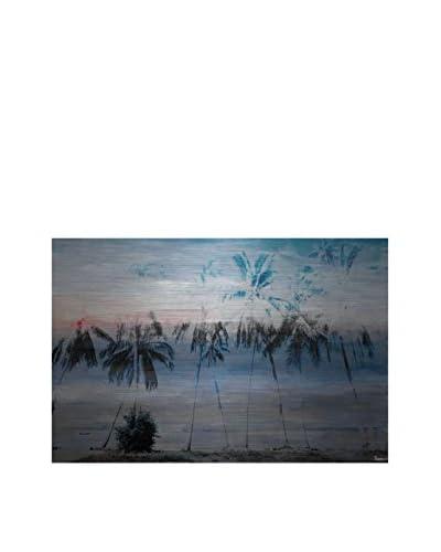 Parvez Taj Blue Palms Aluminum Wall Art