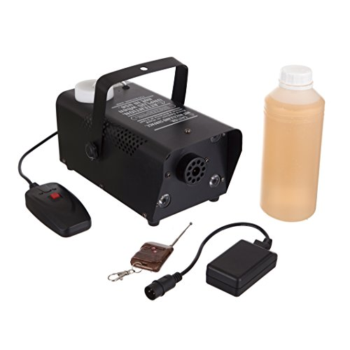 RockJam Fog Machine SuperKit with Multicolored Light Projector, 1 Liter of Fog Liquid, 1 Wireless and Wired Remote (Smoke Machine Portable compare prices)