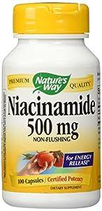 Nature's Way Niacinamide 500 mg Capsules, 100 Count