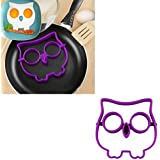 Voberry® Cute Owl Shaped Egg Silicone Moulds Egg Ring Shaper