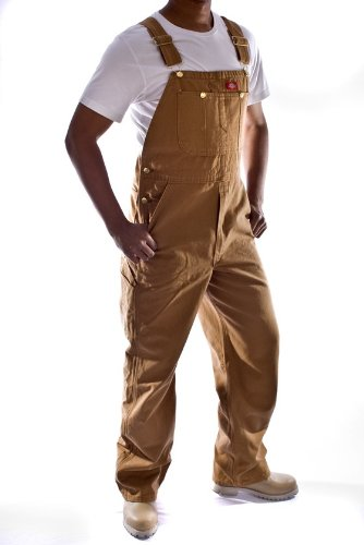 Dickies - Mens Denim Dungarees - Brown Overalls