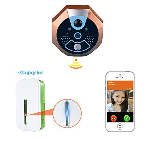 LightInTheBox Wi-Fi Enabled Video Doorbell,720P Home Security Door Camera Monitor Intercom System with Indoor Receiver for Smartphones and Tablets (Torsion Drive Garage Door Opener compare prices)