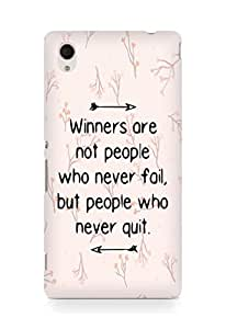 AMEZ but people who never quit Back Cover For Sony Xperia M4