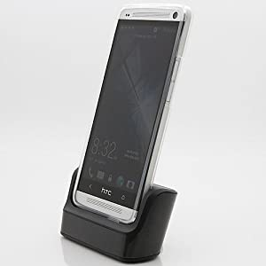 Hyperion HTC One Standard Dock Charger (NEWEST MODEL) - Retail Packaging - Black (Compatible with Sprint HTC One, T-Mobile HTC One, and AT&T HTC One Phones)