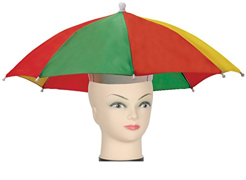 Star Power Stay Dry Multicolored Umbrella Party Hat, One-Size - 1
