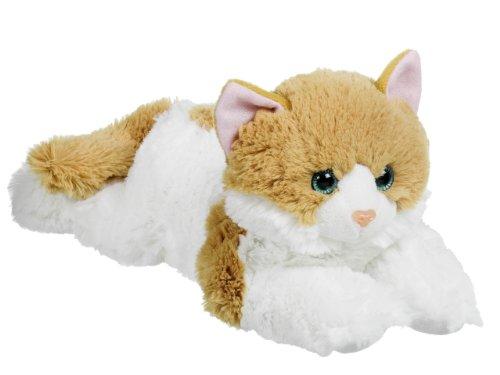 Gato de peluche blanco y marrón
