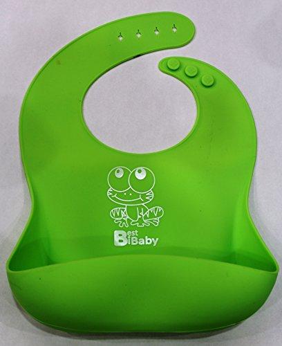 Best BIB for Baby - Soft Bib (Green-Frog)