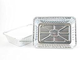 Disposable Aluminum 2 1/2 Lb. Oblong Pan with Board Lid #250L (250)
