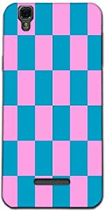 Snoogg Checkered Pattern 2447 Designer Protective Back Case Cover For Microma...