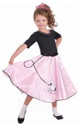 [Pretty Poodle Princess 50's Kids Costume] (Grease Sandy Costumes Kids)