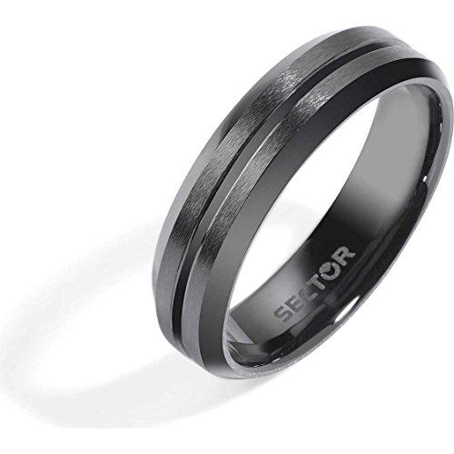 anello uomo gioielli Sector Ceramic misura 19 classico cod. SLI80019