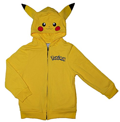 Pokemon Pikachu Big Boys Character Hoodie (M (10/12))