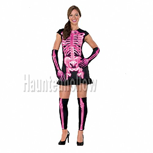 Halloween Cosplay Costumes of Red X-ray Skull Clothing