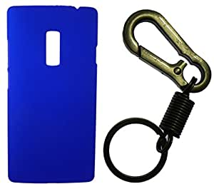 Toppings Hard Case Cover With Matallic KeyChain For OnePlus Two - Blue
