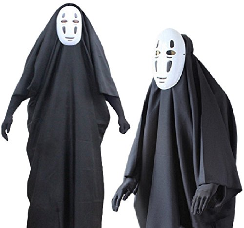 [SPJ: No-Face Kaonashi Style Cosplay Costume Unisex Including Mask Gloves (L)] (Indian Policeman Costume)