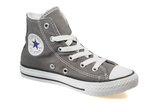 Converse All Star Charcoal Grau Junior Hi Top Canvas Sneaker, 31 EU
